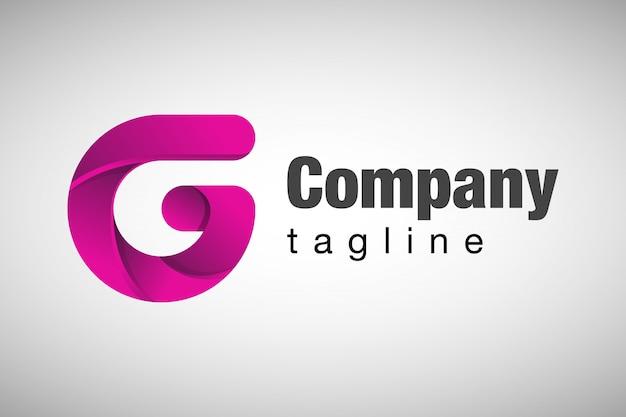 Профессиональная буква g 3d logo Premium векторы