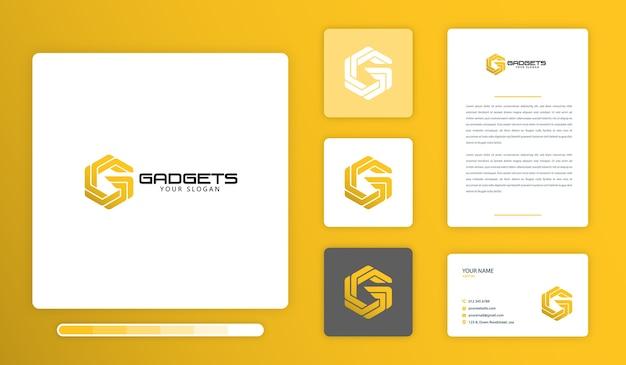 G alphabet logo design template Premium Vector