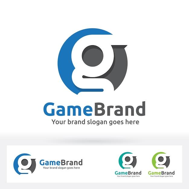 G логотип логотипа, g письмо в круге с плоской тенью Premium векторы