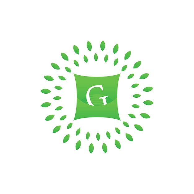 G letter on pillow and green leaf with for hotel or business ...