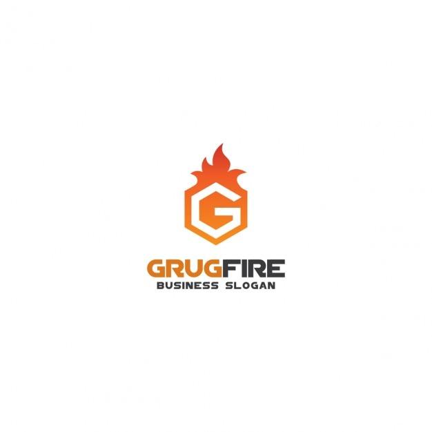 Огонь логотип с буквы g Бесплатные векторы