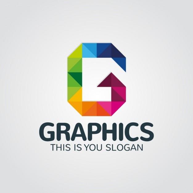 抽象的なカラフルな手紙gロゴ 無料ベクター