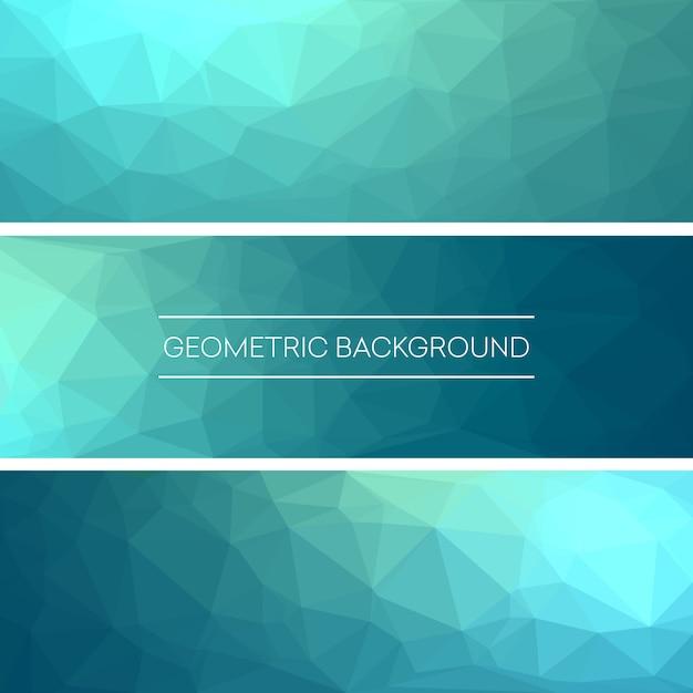 ビジネスデザインテンプレート。多角形のモザイクの背景を持つバナーのセット。 g Premiumベクター