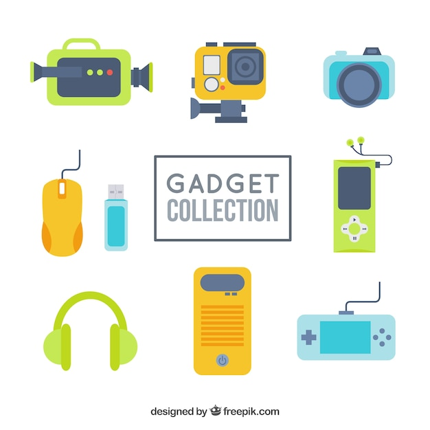 Gadget collection Free Vector