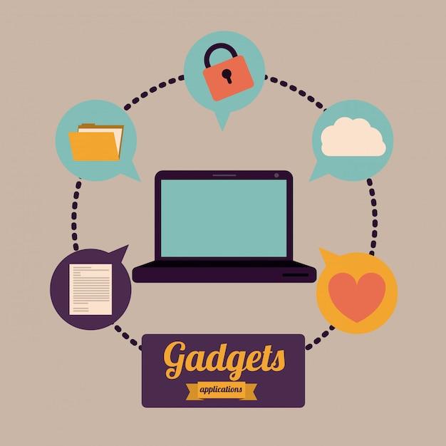 Gadget design Premium Vector