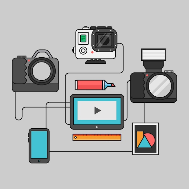 gadget icons vector free download