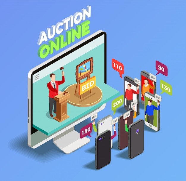 Gadgets on auction Free Vector