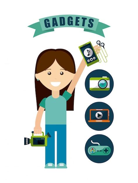 Gadgets tech Vector | Premium Download