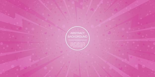 愛バレンタイン綿菓子ピンクgadient動的図形背景 Premiumベクター