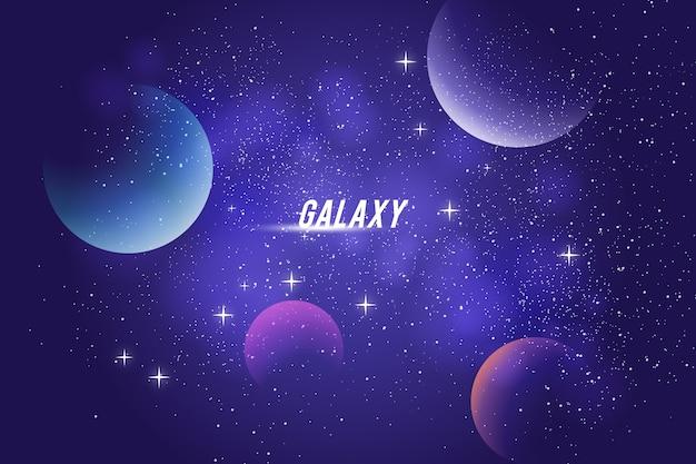 銀河の背景デザイン Premiumベクター