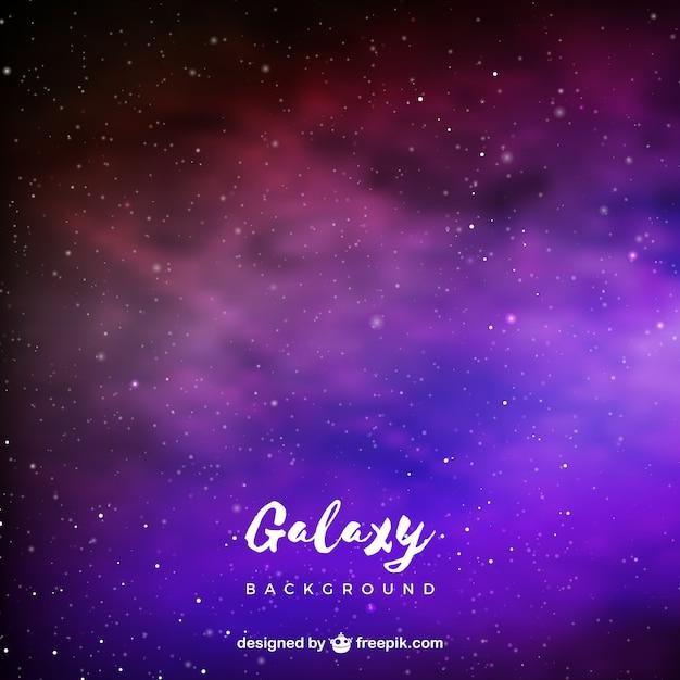 Galaxy background in purple tones