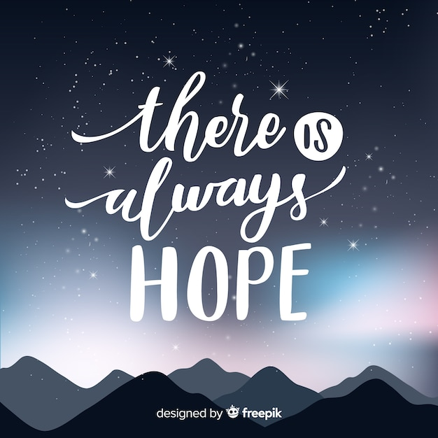 Galaxy background with quote design Free Vector