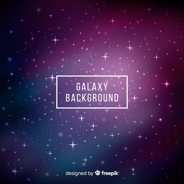 Galaxy background Free Vector