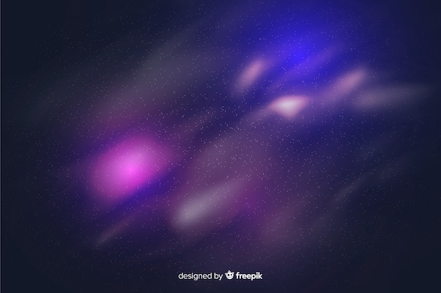 Galaxy particles purple background Free Vector
