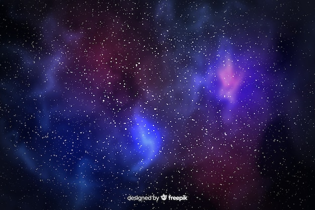 Galaxy particles and starry view background Free Vector