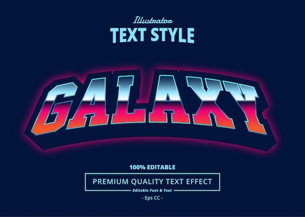 Текстовый эффект галактики Premium векторы