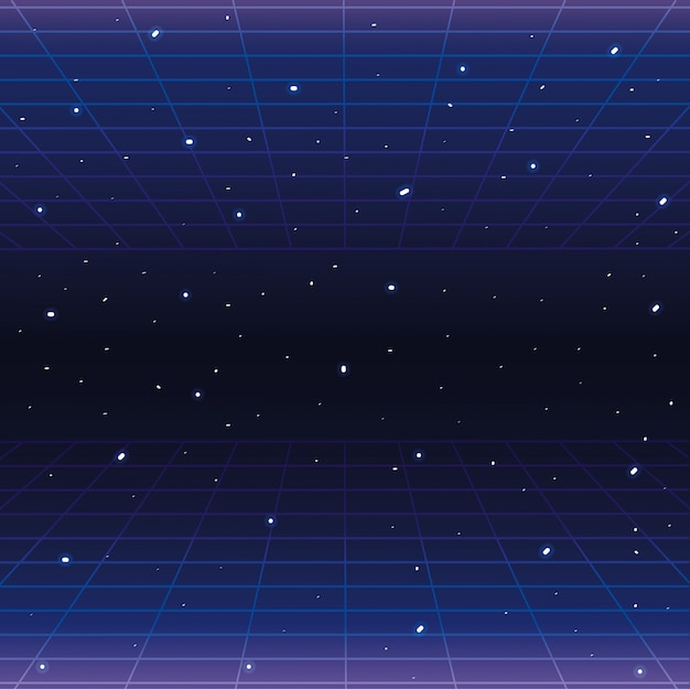 Galaxy with stars and geometric graphic style background Premium Vector