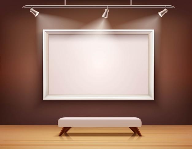 Galleria di illustrazione interna Vettore gratuito