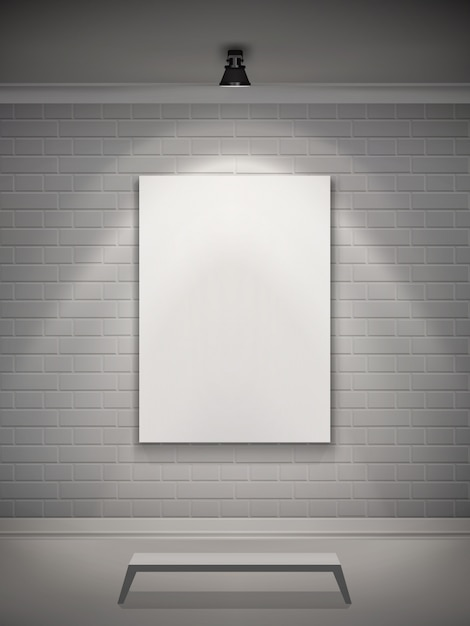 Galleria d'interni realistica Vettore gratuito