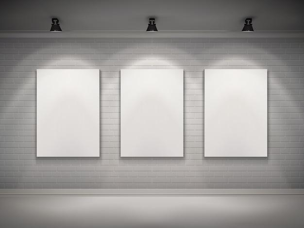 Галерея интерьеров Бесплатные векторы