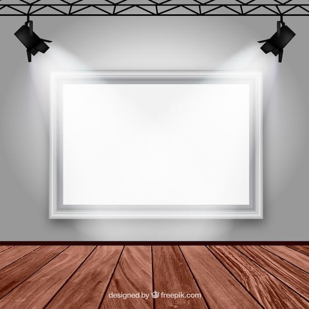 Gallery room interior Free Vector