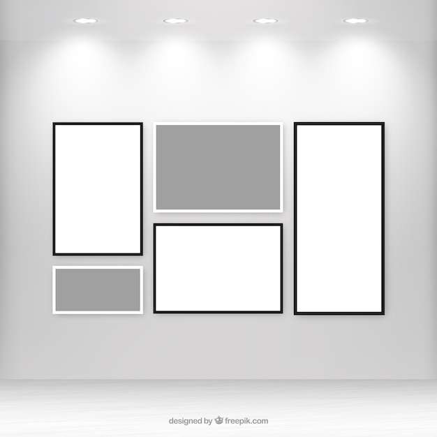 Gallery vectors photos and psd files free download gallery with blank canvas pronofoot35fo Choice Image