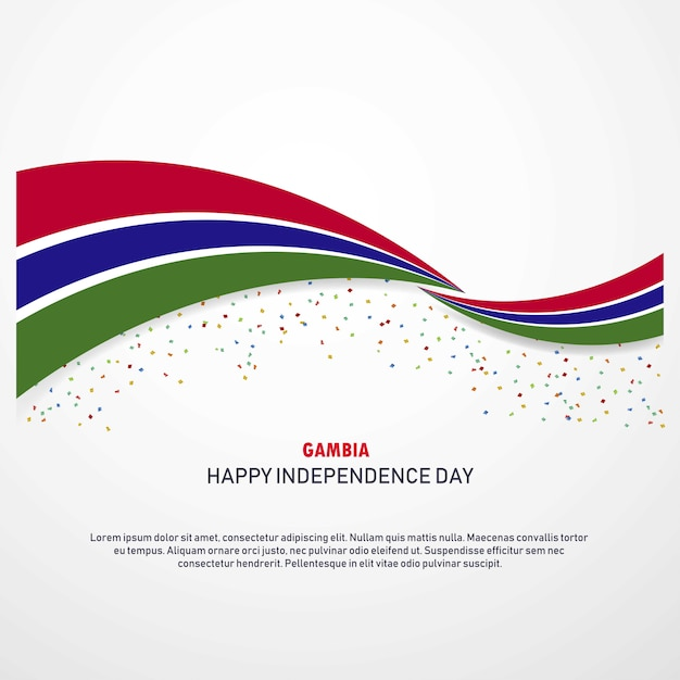 Gambia happy independence day background Free Vector