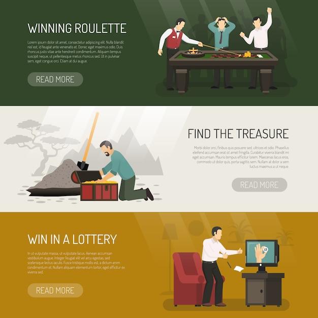 Gambling banners set Free Vector