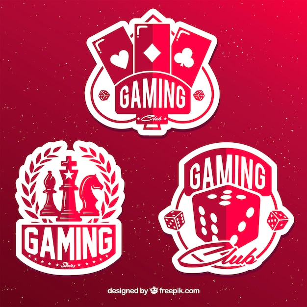 Gambling icon collection with flat design Free Vector