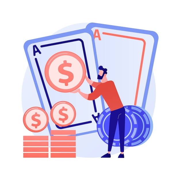 ギャンブルの賞金、運とチャンス、ジャックポット賞。カジノ、ポーカー、カードゲームが勝ちます。お金の勝者、ギャンブラー、カードプレーヤーの漫画のキャラクター 無料ベクター