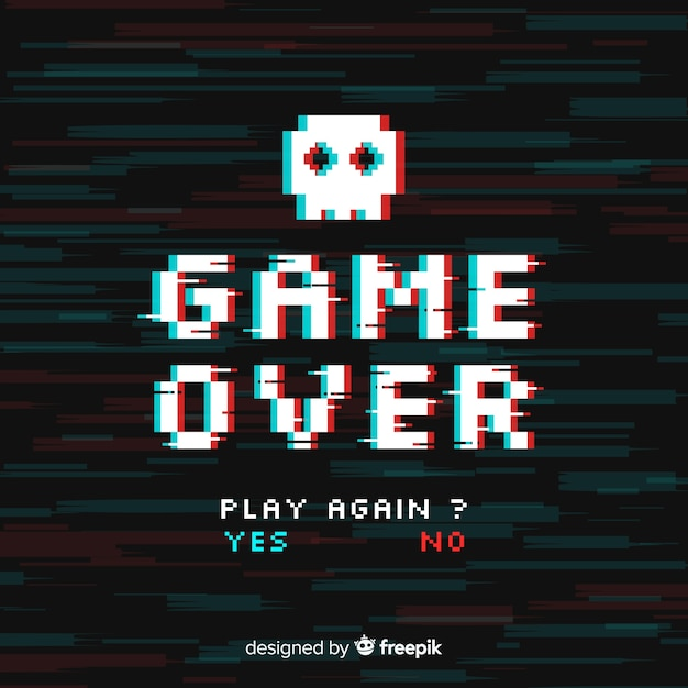 Game over background Free Vector