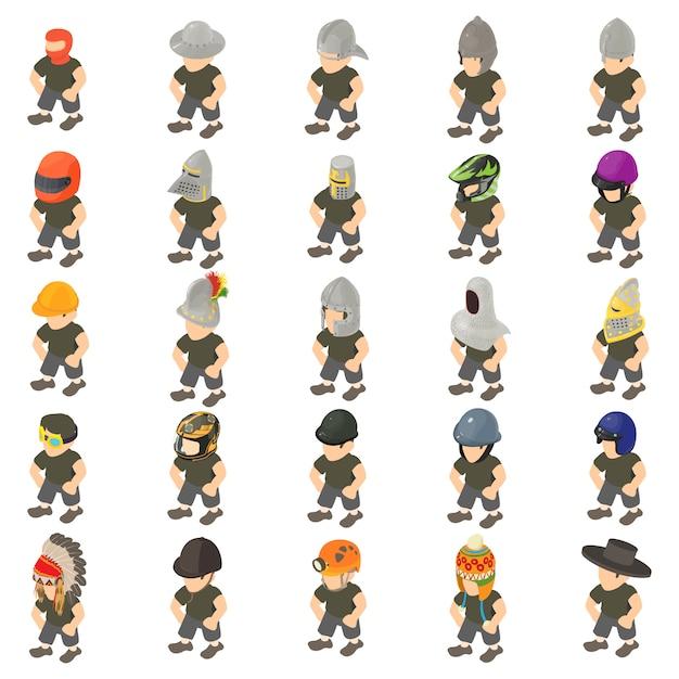 Game character icon set Premium Vector