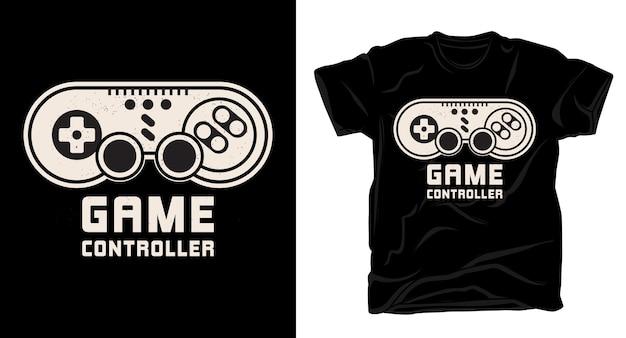 Дизайн типографики игрового контроллера для футболки Premium векторы
