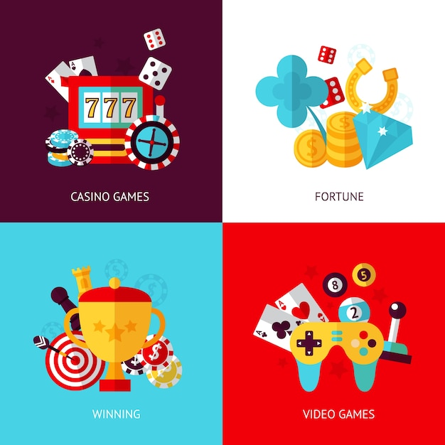 Game designs collecti Premium Vector
