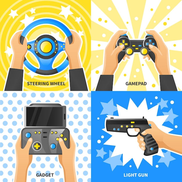 Game gadget design concept Free Vector