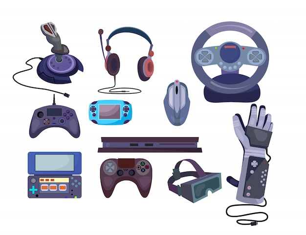 Game gadgets set Free Vector