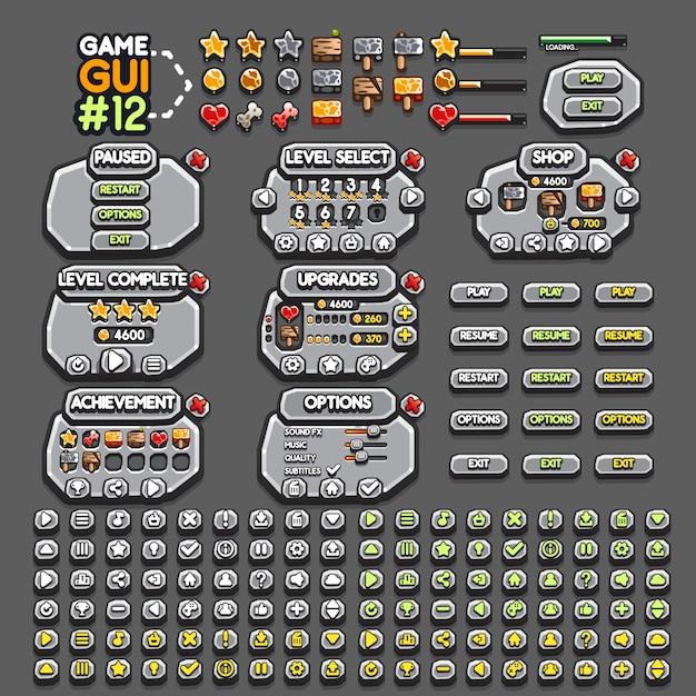 Игровой интерфейс Premium векторы
