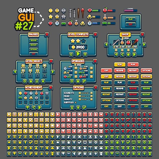 Game gui Premium Vector