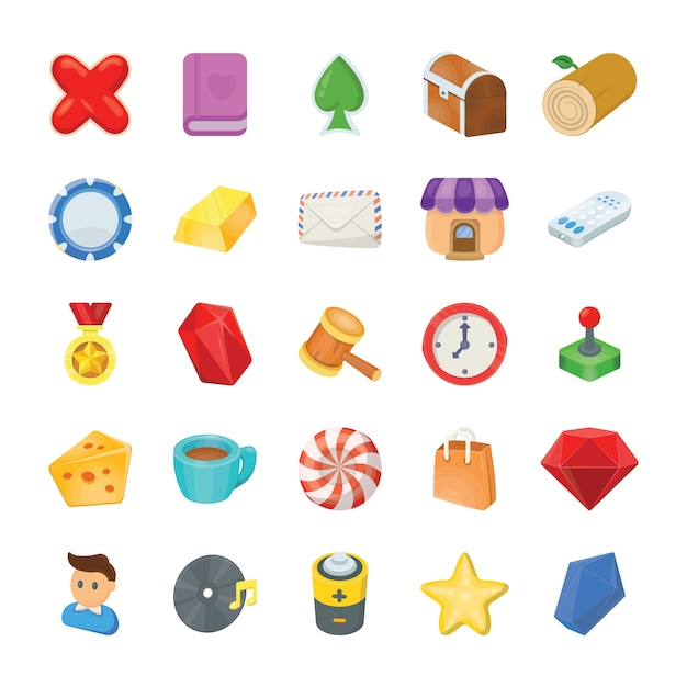 Game icons pack Premium Vector