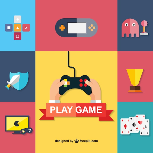 Game icons Free Vector