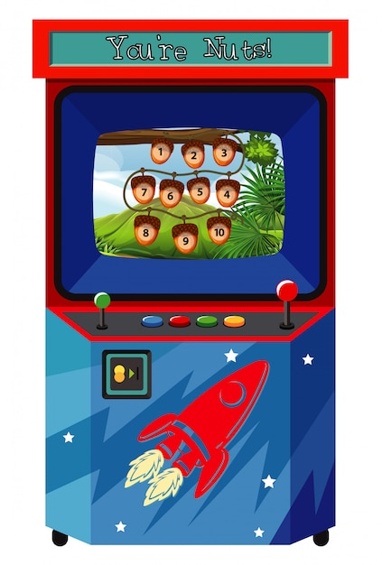 Game machine for counting numbers Free Vector