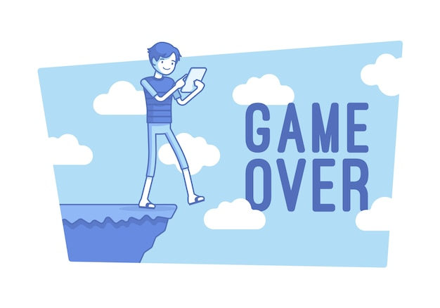 ゲームオーバーの図 Premiumベクター