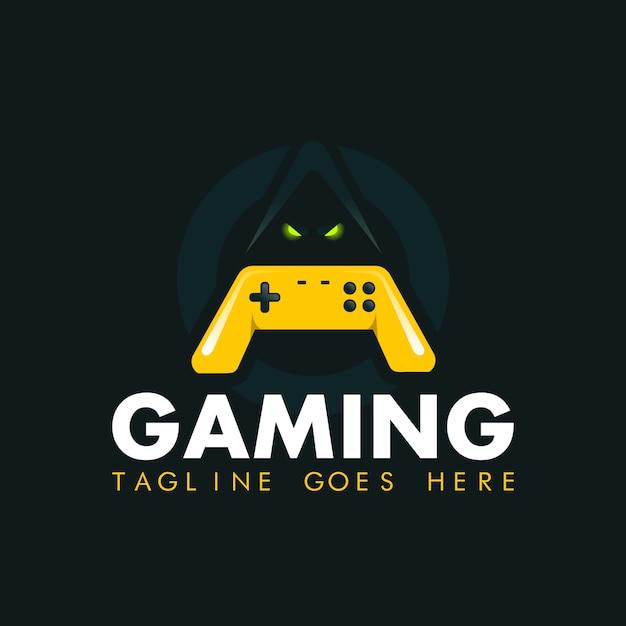 Game-pad logo design vector template Premium Vector