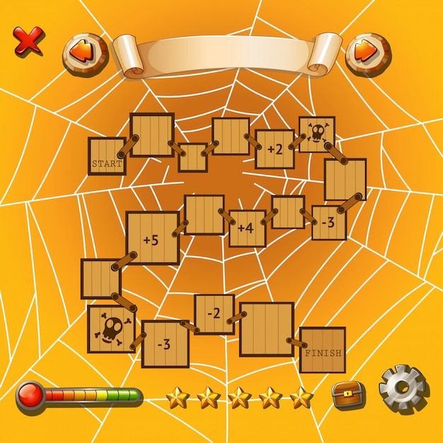 Game template with halloween theme Free Vector