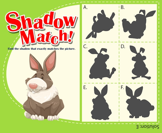 Game template with matching rabbit Free Vector