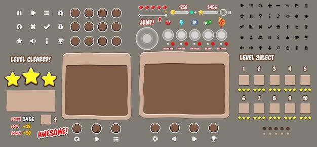 Game user interface templates Vector | Premium Download
