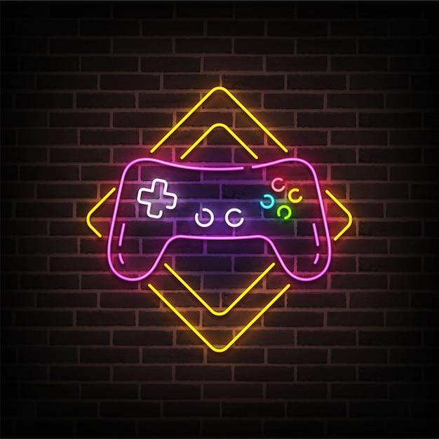 Game zone neon sign Premium Vector