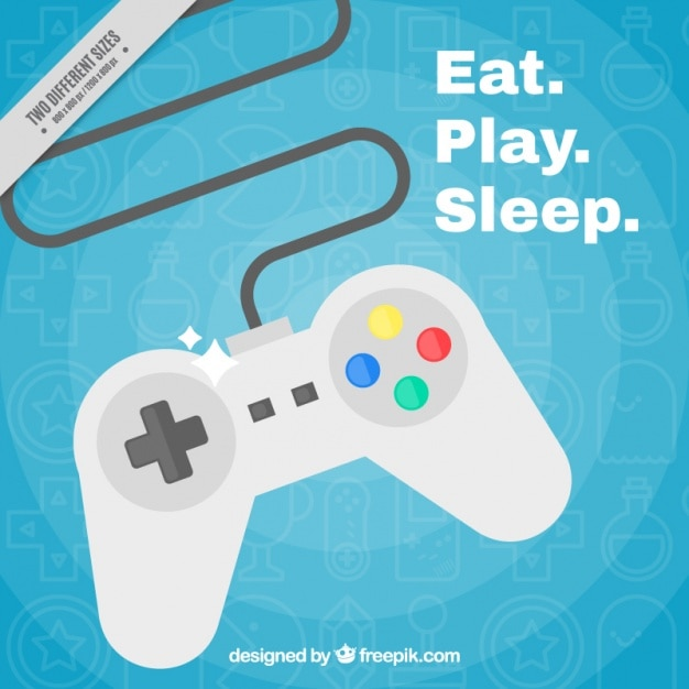 Gamepad background Free Vector