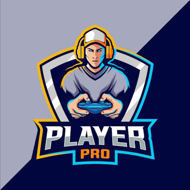 Gamer esport logo design Premium Vector