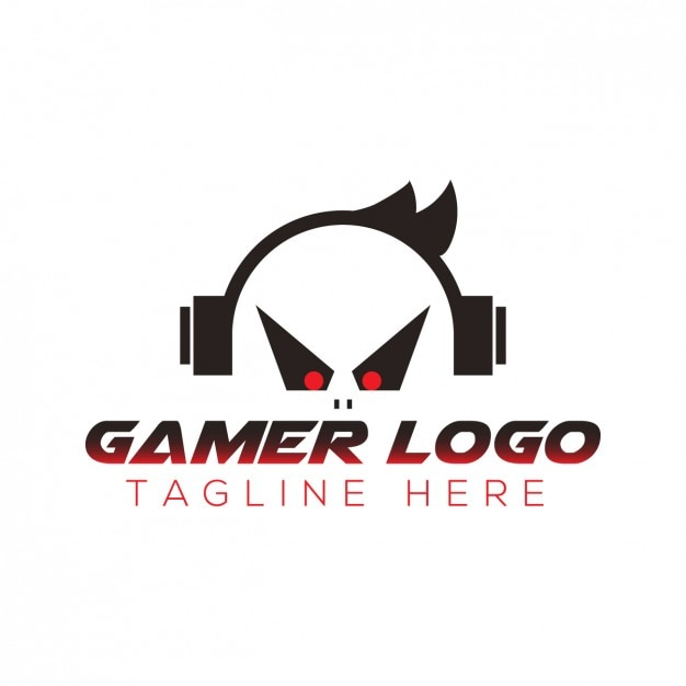 Gamer logo with tagline Free Vector